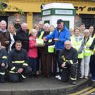 The official opening of Ballybunion's new phone box defibrillator. Photo by Francis Bennett