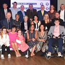 Pictured with committee members are representatives from the various charities who shared in the €1,265,375 raised from the 35th Ring of Kerry Charity Cycle, presented at the Ring of Kerry Cycle Banquet in the INEC, Killarney on Friday. Photo by Michelle Cooper Galvin