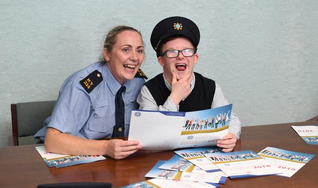 Garda Sergeant Mary Gardiner with last year's overall winner Dale O'Carroll at the launch this week. Photo by Domnick Walsh