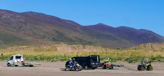 The quad bikes which were spotted on Inch beach at the weekend.