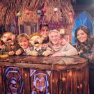 The 'Bat' family, the Flemings, pictured on 'The Podge and Rodge' show on RTÉ this week