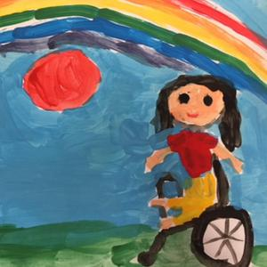 Second class pupil Mia Hunt, Scoil Naomh Eirc in Ardfert, was 'Junior County Winner' in the leading national art competition 'Someone Like Me'