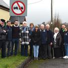 Cllrs Michael O'Shea and John Francis Flynn with residents Michael Curran, Helen O'Sullivan, Jackie Nagle, Jerry and Anne Casey, Mike O'Shea, Claire O'Sullivan, Dermot Murphy, Sean McKenna, Grettie Curran, Breda Langford and Georgie O'Shea at Steelroe, Killorglin on the main Killorglin-Milltown Road where residents have safety concerns. Photo by Michelle Cooper Galvin