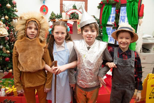 Pupils of Scoil Eoin Balloonagh who took part in the schools Christmas Concert: The Wizard of Oz. Pictured are Ben Litchfield (Lion), Molly Casey (Dorothy), Sam Gleasure (Tin Man) and Julie Griffin (Scarecrow)