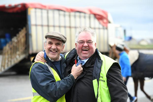 Ernest Tiner and Raymond Sugrue from Tralee enjoying the camaraderie of the occasion