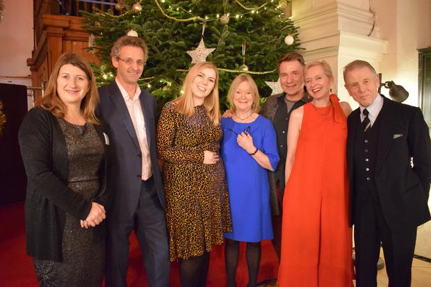 Ballybunion's Sinead Dineen (centre) with, from left, The National Brain Appeal CEO Theresa Dauncey, Professor Alex Leff, actress and patient Joanna David, ITV's Richard Arnold, former BBC Arts Correspondent Rosie Millard OBE and Edward Fox OBE attending the The National Brain Appeal's Christmas Carol Concert at St George's Church in London