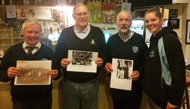 Killorglin Rugby Club members on the trail of photograph. Included are: Leslie West, John Healy, Tom Curtayne and Katie Graham, PRO