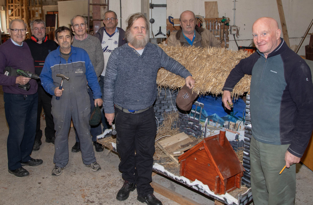 Members of Tralee Men's Shed are among the 11 sheds in Kerry to welcome news of funding this week. Pictured are: John Goddard, Frank Faherty, Thomas Murphy, John Dunne, Tony McMahon, Liam Gunn, Tom Maloney and Tony Moriarty
