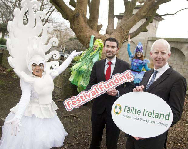Chief Executive Fáilte Ireland Paul Kelly (right) and Minister of State for Tourism and Sport Brendan Griffin TD at the announcement of the funding boost.
