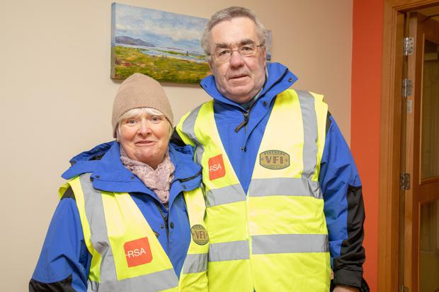 Anna and Frank Ryle who took part in the final day walk of the January 31 day challenge at the Baile Mhuire Day Care Centre on Thursday
