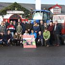 Jenny and Chloe Teahan; Tom O'Sullivan; John and Timmy Mulvihill; family and friends launch the Red Fox Tractor Run in memory of John Teahan. It will be held on Sunday, February 24, with registration from 11am. Proceeds go to Pilgrim Trust and St Joseph's Home Palliative Room, Killorglin. Photo by Michelle Cooper Galvin