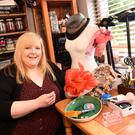 Aime O'Shea, Killorglin, working at home on one of her creations and whose hat is in London Hat Week. Photo by Michelle Cooper Galvin