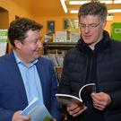 Tony Bergin and Dr Conor Brosnan in Dingle Library for the launch of the Kerry Archaeological and Historical Society Journal last week. Photo by Declan Malone.