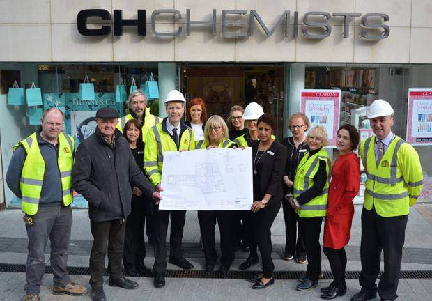 Peter and Clare Harty pictured on Tuesday morning launching the €1.5million investment into CH Chemist. Photo by Fergus Dennehy