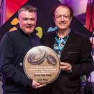 Aidan O'Connor from 'Mike the Pies' pictured receiving his 'Hot Press Live Venue of the Year 2018' award at an award show in Dublin last week.