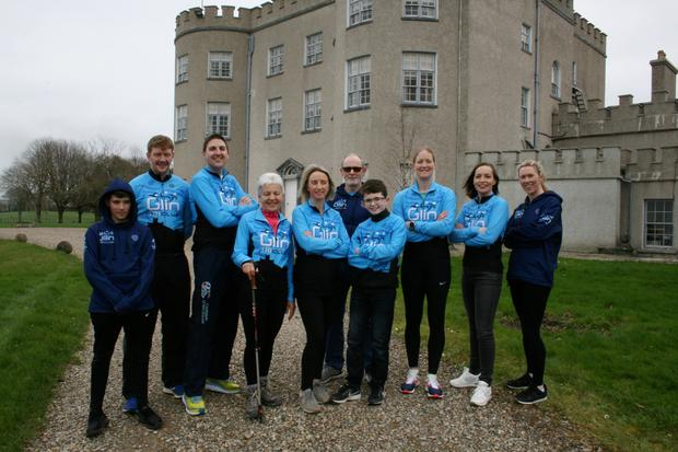 Members of the Glin Triathlon Club launching their forthcoming 5km fun run and walk event at Glin Castle this week.