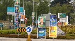 Louth Tidy Towns Together has requested all candidates not to erect posters for the May elections after the initiative proved successful in the presidential campaign. Stock Image