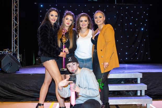 Queen B' - winners of the public vote: Rebecca O'Sullivan, Courtney Neill, Ava Joy and Emma McCarthy keepin' it real. Photos by John Kelliher