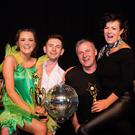 Sharing the glitter ball at Strictly Come Dancing 2019 in aid of the Irish Cancer Society, the judges' choice winners and people's choice winners: Ciara O'Donoghue and Emmet Flanagan with Mike Delaney and Mags O'Mahony. Photos by Marie Carroll-O'Sullivan