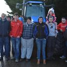 Joseph Courtney, Aidan O'Connor, Gearóid O'Shea, Dara Lyon, Robert Giles, Diarmuid McCarthy, Ben Courtney, Amelia Courtney, Adam Fleming and Seán Kelliher pictured at the Mid Kerry Macra Tractor run in aid of Recovery Haven on Sunday. Photo by Fergus Dennehy