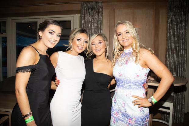 Amy Cussen, Sinead O'Connell, Sinead McCarthy and Amy Carmody enjoying the Nag Ball