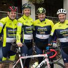 Niall and Pat Donovan with Mike Cahill and Adam Roche who cycled in the SRAC cycle on Saturday morning