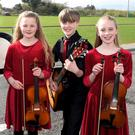 Kilcummin Music Group: Michael Healy, Sean Cox, Neveen, Ryan and Aoibhe O'Sullivan who participated in the Scór na bPaistí Chiarraí at Glenbeigh Community Centre on Saturday. All photos by Michelle Cooper Galvin