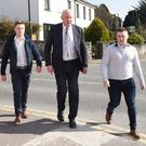 Solicitor Padraig O'Connell with Kevin and Jackie Healy Rae
