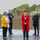 The N70 Kilderry Bends Improvement Scheme was officially opened by Minister Brendan Griffin and KCC Cathaoirleach of Kerry County Council, Cllr Norma Foley, pictured with KCC CEO Moira Murrell, CEO TII Michael Nolan, Ray O'Leary of the Department of Transport and Director of Services at the Council Charlie O'Sullivan