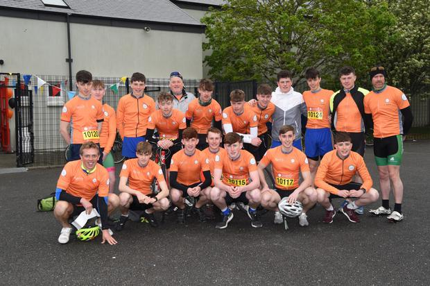 Students and staff members from Killarney Community College who participated in the Cycle Against Suicide last Thursday. Photo by Michelle Cooper Galvin