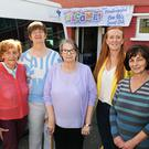 Members of the Knocknagoshel Over 55s' Social Club from left secretary Betty Canty, chairperson Catherine Lenihan, PRO Bridget Scanlan, committee member Jill Redmond, and Treasurer Catherine Brosnan. Photo by John Cleary