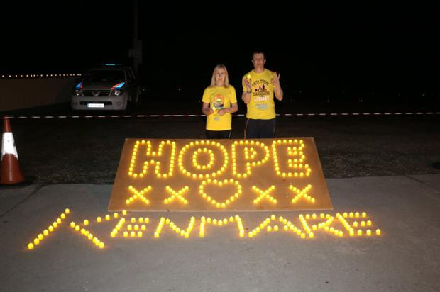 Locals showing their support for Pieta House at the Kenmare Darkness Into Light walk on Saturday