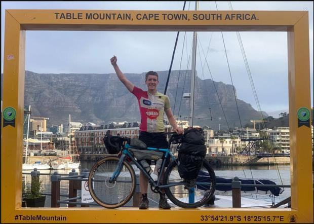Tomás Mac a'tSaoir in Capetown at the end of the long road from Cairo