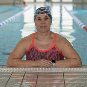 Tralee swimmer Elaine Burrows-Dillane who is in training ahead of her attempt to swim across the English Channel this September to raise money for Brain Tumour Ireland. Photo Domnick Walsh Eye Focus