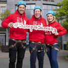 Ireland international rugby star Sean O'Brien and country singer and Dancing With The Stars finalist Cliona Hagan teaming up with Tom Moran to launch 'Jump4James' Abseil Challenge