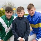 Young jockeys Brendan Lyons, Dylan O'Connor and Ross Sugrue who raced in the Point to Point races at Ballybeggan Racecourse in Tralee at the weekend