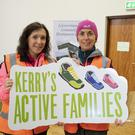 Martina Lawless from Ballymacelligott and Siobhán Kearney from Tralee at the big Active Families event in Lyreacrompane. Photo By Domnick Walsh