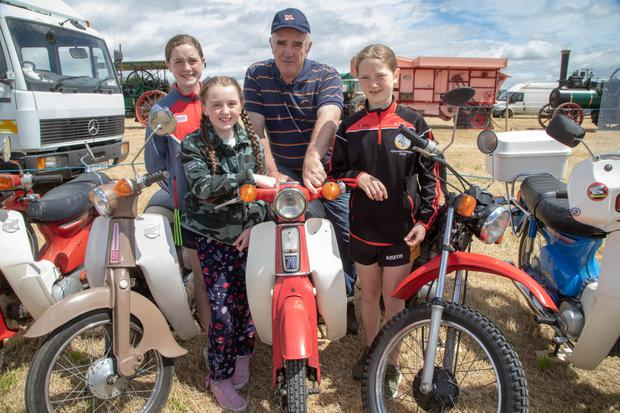 Checking out the Honda 50s at the Kilflynn Vintage Rally on Sundaywere Ella and Clodagh Buckley, Neilus Beirne and Ruth O'Connor. Photo by Joe Hanley
