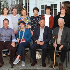 The Muckross Rowing Club ladies crew, winners of the 1983 senior race, at the launch of Killarney Regatta at The Killarney Avenue Hotel on Monday night. Front from left are Muckross Rowing Club Chairman Sean Daly, Margaret Murhill, Killarney Regatta Chairman Pat Cronin and Regatta President John O'Leary . Standing from left are Anne Tangney, Bridie Spillane, Bridie Cronin, Joan O'Mahony, Kathleen Ryan, Mary Lyne and Geraldine Sexton