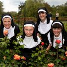 Nuns & Roses: Jill Kenny, Rían, Carragh and Caoilinn Kenny O'Sullivan and Ciara O'Sullivan (Kilmoyley) at the Tralee Nun Challenge Guinness World Record Attempt in the Town Park on Saturday