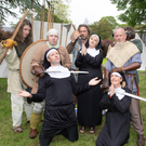 Nuns in trouble at the Féile na mBláth in the Tralee Town Park on Saturday afternoon