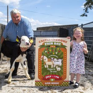 Pat O'Shea and Emily Tarrant launching the Castlegregory 2019 Fair Day which will take place on the this Saturday. Photo by Domnick Walsh