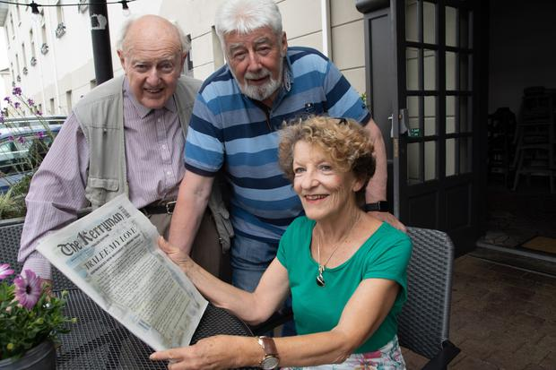 Frank O'Reilly, Johnnie Wall and Judith Scanlon have expressed their support for the 'Tralee my Love' campaign'. Photo Joe Hanley