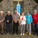 Some of the surviving 1996 Grotto Meitheal pictured with organiser, Eilish Conway after the mass in St. Stephen's Park on Monday evening. Included are; Mikey Conway, Franko Moriarty, John and Eilish Conway, Johnny Foran and Denny Flynn. Photo by John Reidy