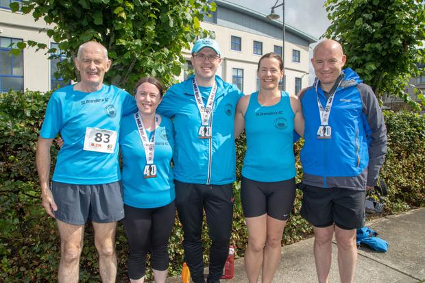 David Kissane, Irene and David Butler, Ursula Barrett and Declan Sheehan pictured with their medals after they completed the 'Born to Run' 40 Mile Ultra Marathon on Saturday afternoon