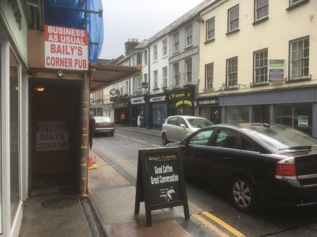 Castle Street – a section of which was closed to traffic fro almost a month due to structural concerns about the facade of the Baily's Corner premises – is now fully reopened to traffic