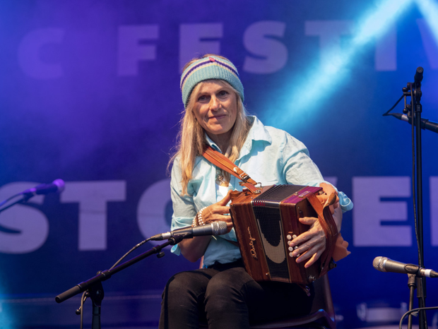 One of Ireland's best known acts, Sharon Shannon, pictured performing in Listowel on Friday night as part of the annual 'Revival'festival which drew hundreds to the town over the weekend