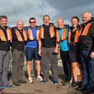 Dingle Coast Guard members Ursula Vickers, Moss O'Halloran, Mike Johnson, Cathal Laide, Patrick Sheehy, Mark Murphy, Karen Nicholson and Colm Jordan who took part in the inaugural Coast Guard Race at Dingle Regatta on Sunday. The race was won by Patrick Sheehy and Cathal Laide