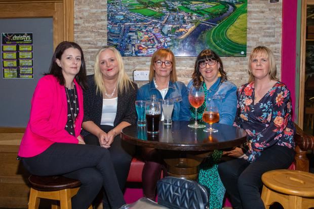 Catherina Ahern, Liz Finucane Eilish Enright, Siobhan Gould, Helen O Brien enjoying the long-awaited get together at the Spectra reunion in Christy's Well Bar on Saturday. Photo by John Kelliher
