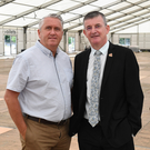 Rose of Tralee Executive Chairman AnthonyO'Gara and Operations Manager Oliver Hurley in the festival Dome which costs up to €400,000 a year to erect and service. Photo Domnick Walsh